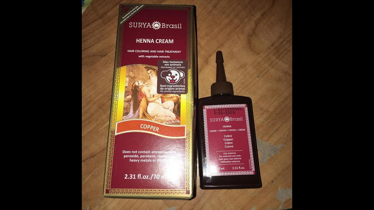 Surya Brasil Copper Henna Hair Color Review Youtube