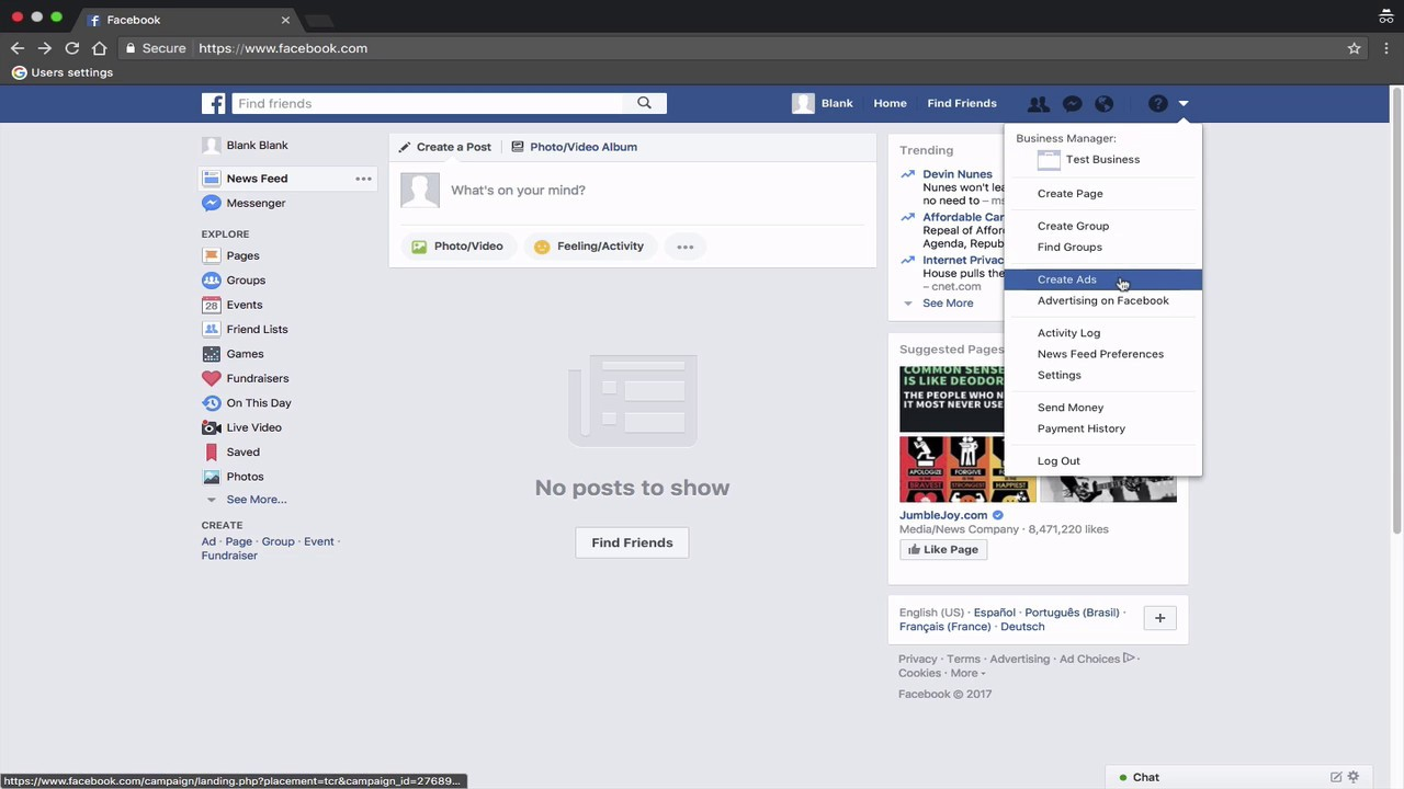 How to Link Facebook Business Manager to a Facebook Ads Account