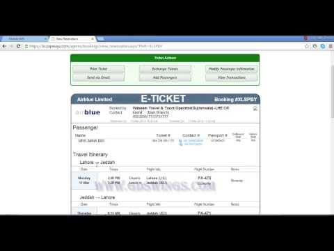 Bought airline ticket online?