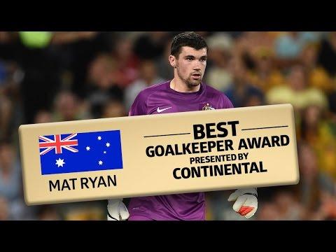 Best Goalkeeper Presented By Continental: Mat Ryan