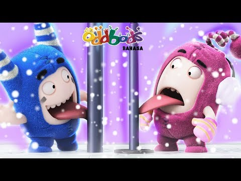 Natal   BERMAIN SALJU Bersama Oddbods   Kartun Natal   Kartun Lucu Untuk Anak