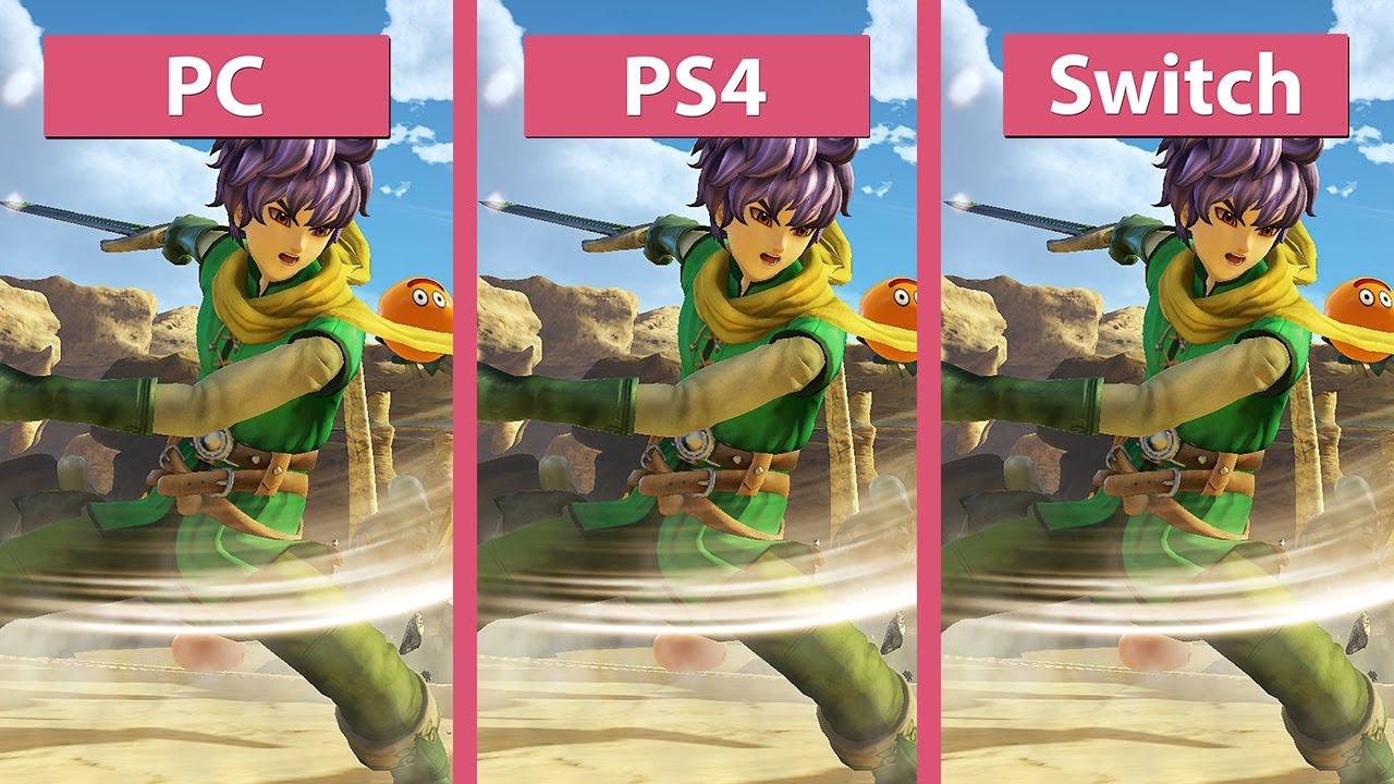 Dragon Quest Heroes 2 – PC vs  PS4 vs  Nintendo Switch Graphics Comparison