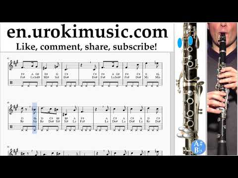 Clarinet lessons Harry Potter - Hedwig's Theme Sheet Music Tutorial um-i352