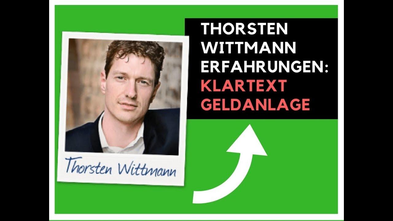 Thorsten Wittmann Erfahrungen Klartext Geldanlage Enthüllt