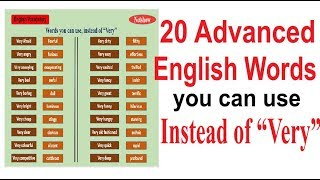"""20 English Words; You Can Use Instead of """"Very"""""""