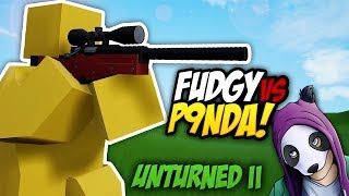 FIGHTING AGAINST P9NDA - Unturned II Gameplay | Sniping 1v1 Battle!