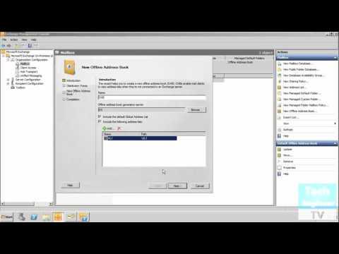 Create Offline Address Book In Exchange Server 2010