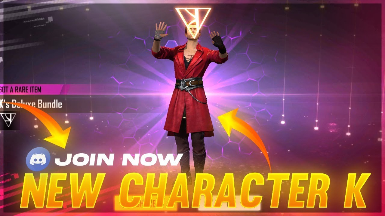 Garena Free Fire Live New Character K Free 1000 Diamond Join Discord Youtube