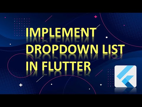 How to Implement DropDown List In Flutter??