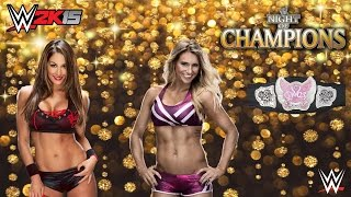 Nikki Bella - Charlotte - Divas Championship - WWE Night Of Champions WWE 2K15