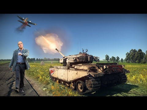 Сбиваем самолёты ТАНКОМ ! War Thunder