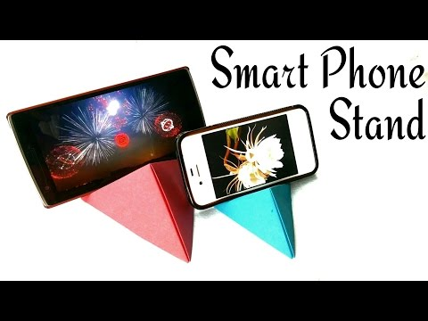 Smart/Mobile/Cell Phone stand - Iphone/Samsung/ all  brands & devices - DIY Origami by Paper Folds!