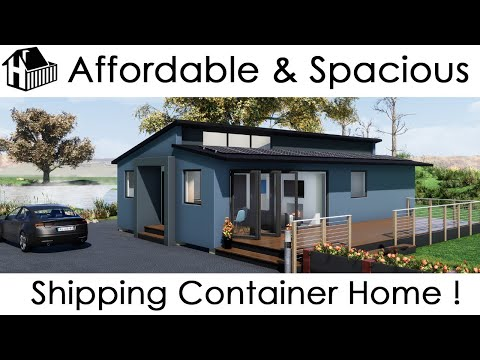 3 bedroom affordable shipping container home flyaround tour