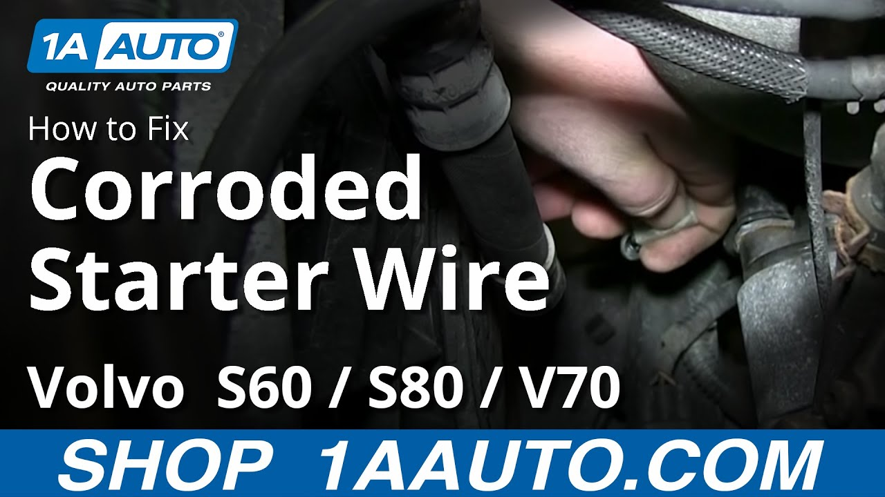 volvo s60 s80 v70 corroded starter wire engine will not crank or turn over [ 1280 x 720 Pixel ]