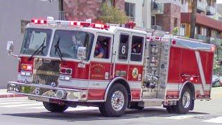 Santa Monica Fire Dept. New & Old Engine 6
