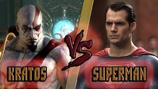 Кратос vs Супермен / Kratos (God of War) vs Superman (DC) - Кто Кого? [bezdarno]