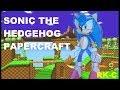 Sonic the Hedgehog papercraft Tutorial Link en la descripcion