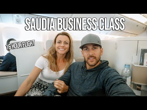 16 HOUR flight! Saudia Airlines Business Class Review