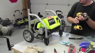 How To Clean A Pressure Switch Valve   Ryobi 1700 PSI