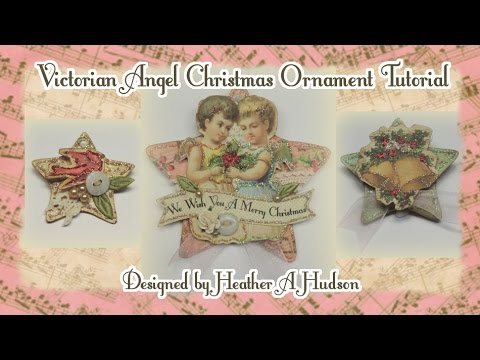 Victorian Angels Christmas Ornaments DIY Tutorial