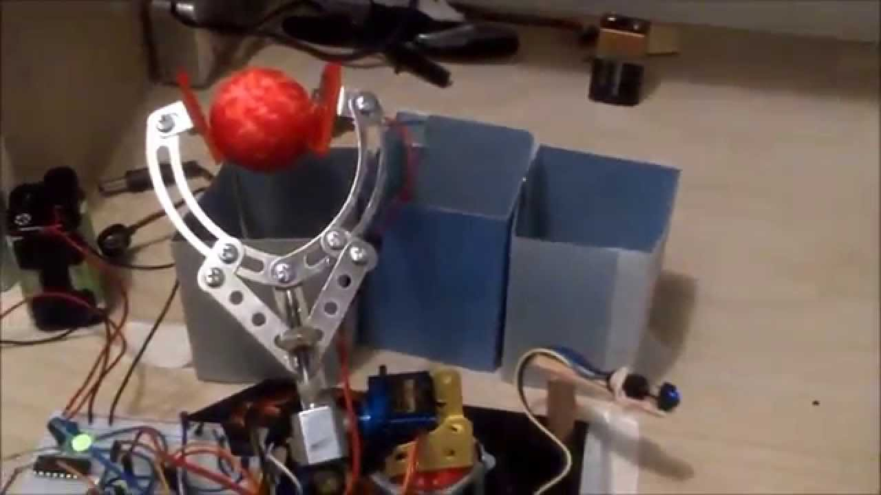 Arduino project robotic arm sorting youtube
