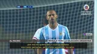 آل باتشينو يشجع نجوم الأرجنتين قبل كوبا أمريكا
