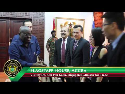 Trade Ministry of Singapore Calls on President Akufo-Addo