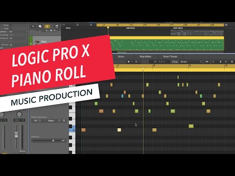Editing MIDI in the Piano Roll | Logic Pro X Basics