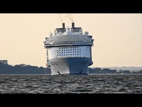 HARMONY OF THE SEAS passing Cowes Isle of Wight 29th May 2016 by rob yalden