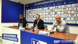 Pressekonferenz - 1. FC Magdeburg gegen FC Erzgebirge Aue 0:3 (0:3) - www.sportfotos-md.de