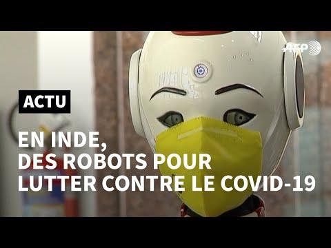 Inde: des robots pour lutter contre la propagation du coronavirus | AFP News