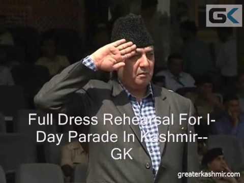 Full Dress Rehearsal For I-Day Parade In Kashmir