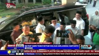 Dari Kantor PPP, Maruf Amin Bertemu Ketum Golkar Airlangga Hartanto