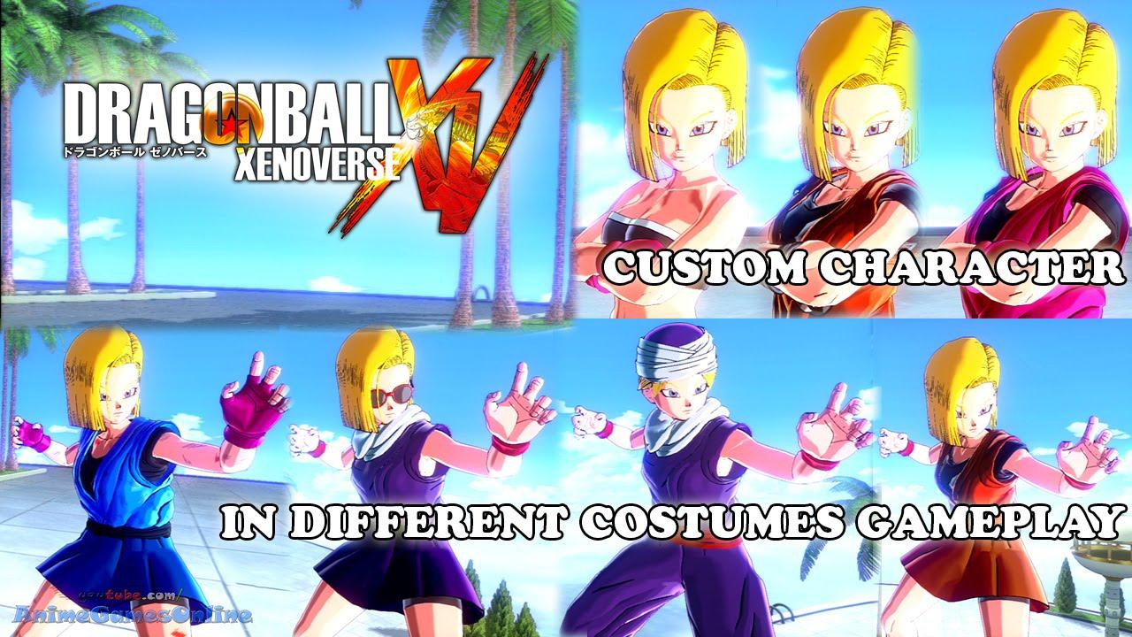Dragon ball xenoverse custom character costume gameplay youtube