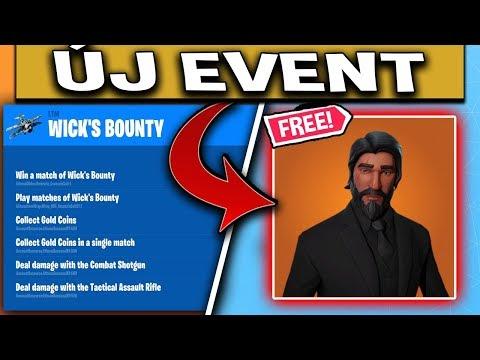 FORTNITE JOHN WICK ÚJ EVENT + INGYEN SKIN?