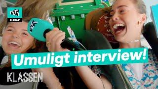 NØJEREN! Signe laver interview i VILD forlystelse! | Klassen ekstra
