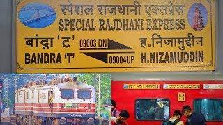 3rd Rajdhani Express between Delhi - Mumbai | 1st Regular Run from Bandra Terminus|