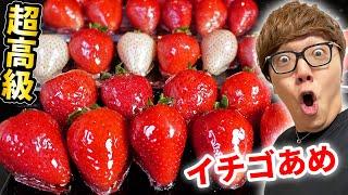 超高級イチゴで本気のいちごあめ作ったらもはや宝石!【ASMR】【ヒカキンTV】【いちご飴】