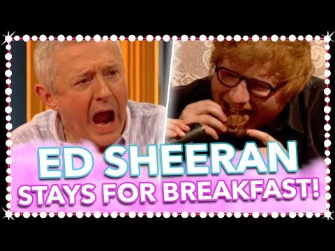 Ed Sheeran Gets A Mouth Full...We Can't Look! | Celeb Juice 2017
