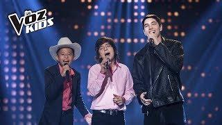 Fabio, Adrián y David cantan Día Tras Día | La Voz Kids Colombia 2018
