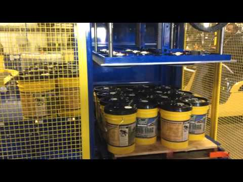 American Automation 5 Gallon Pail Palletizer