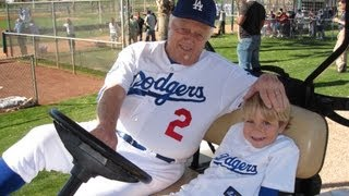 Tommy Lasorda & 4 Year Old Baseball Prodigy Christian Haupt at Dodger Spring Training 2013