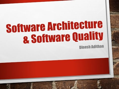 Software Architecture & Software Quality - June 26, 2014