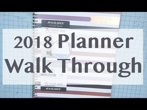 At-A-Glance 2018 Planner Walk Through - YouTube