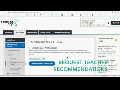 ferpa form waive or not  COMMON APP EDUCATION, FERPA, AND RECOMMENDERS || MAGELLAN ...