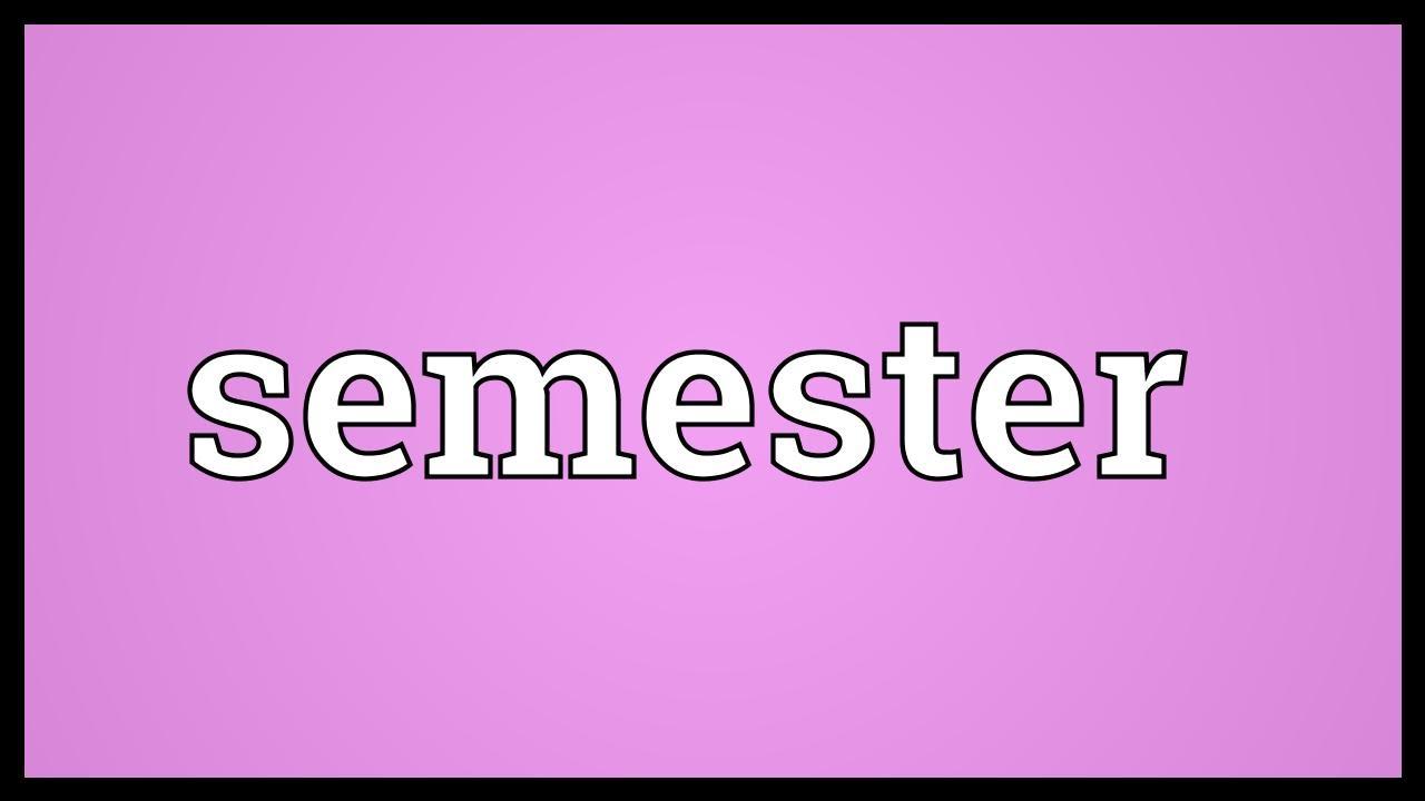 Semester Definition