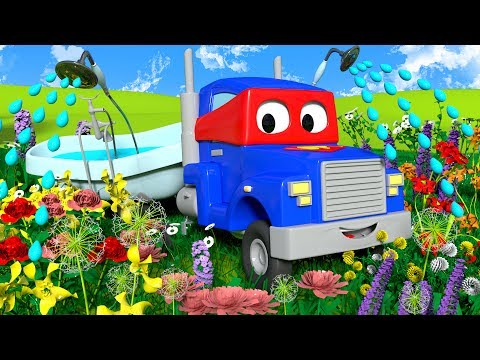 Carl the Super Truck is a sweet Gardening Truck in Car City | Trucks Cartoon for kids