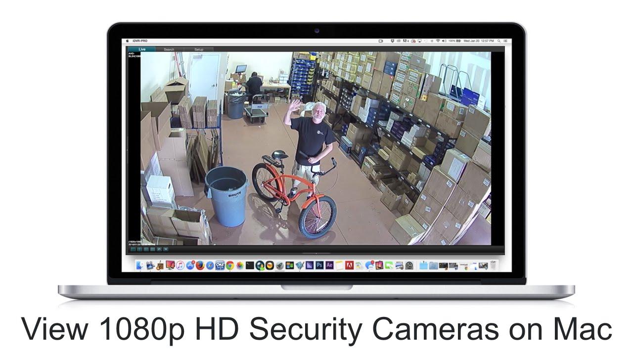 Mac CCTV DVR Software 1080p HD Security Camera View