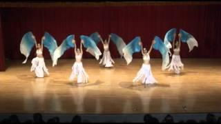 摩娑Caresse Dance: Fan Veil Belly Dance冰雪美神飄扇肚皮舞