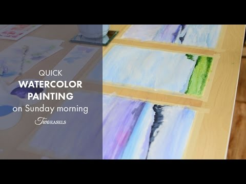 3 quick paintings Timelapse watercolor